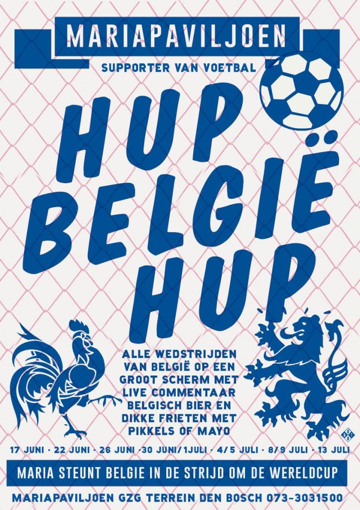 hup belgie hup poster